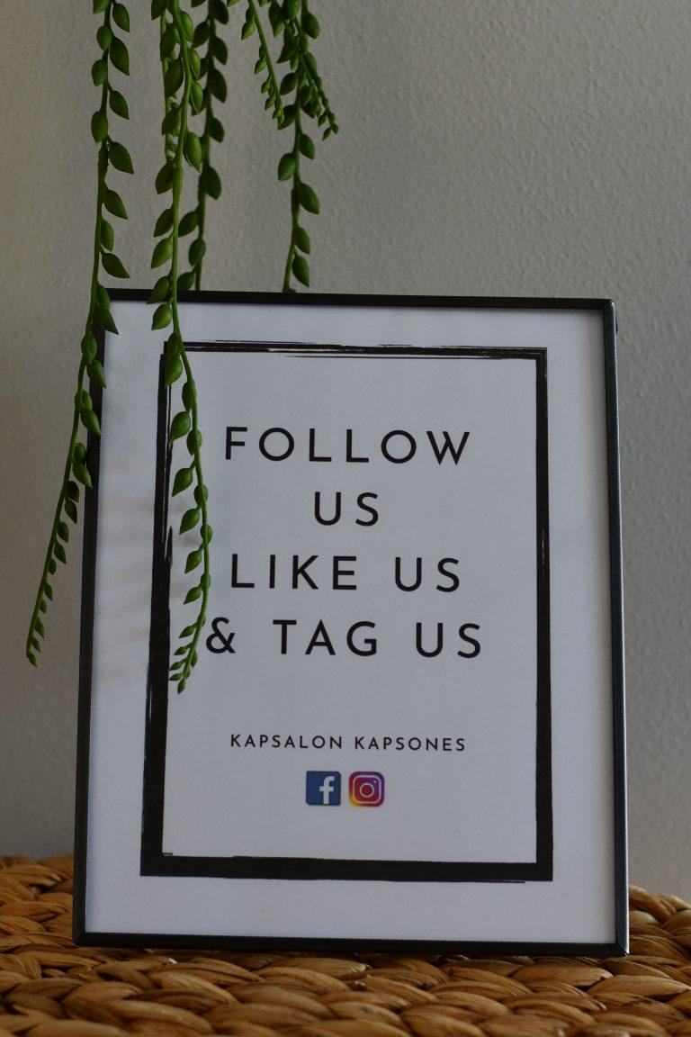Volg ons via Facebook en Instagram